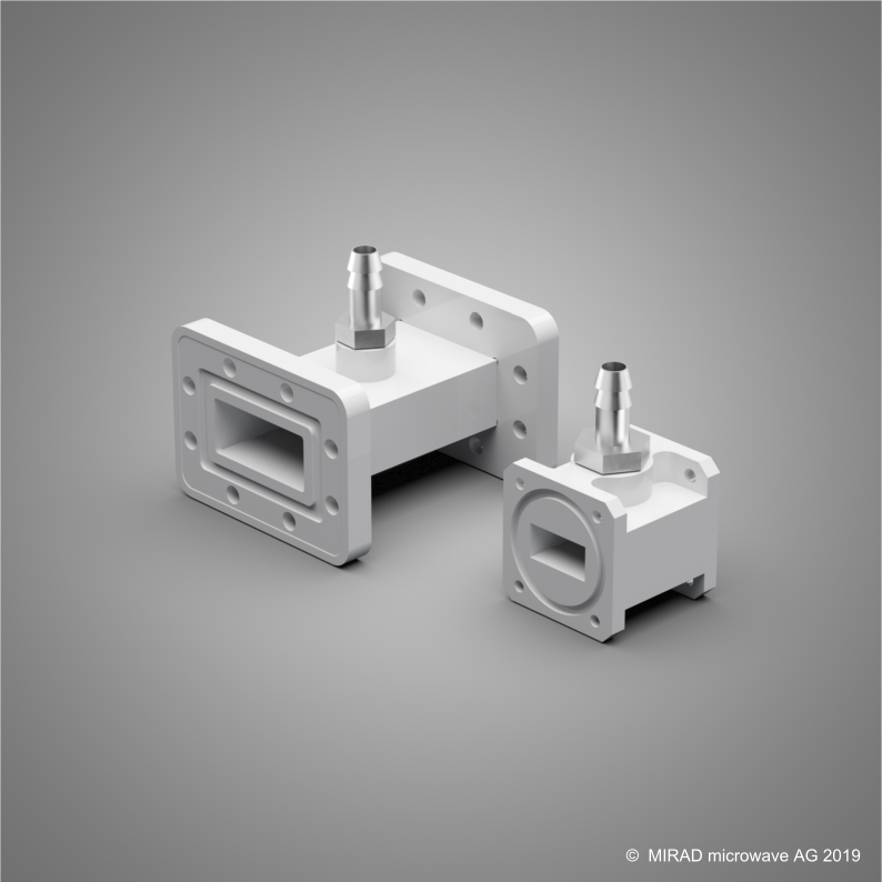 Soldered C-band air inlet, machined Ku-band air inlet